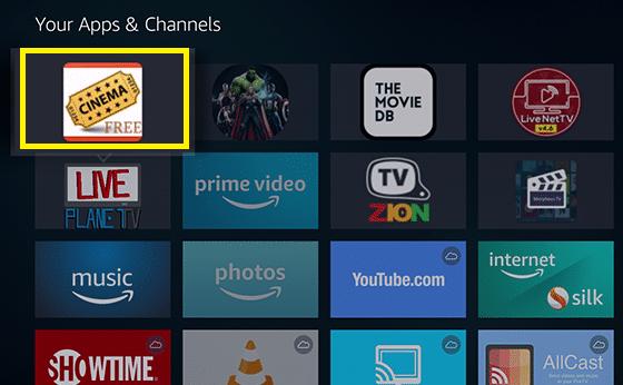 download Cinema on Firestick