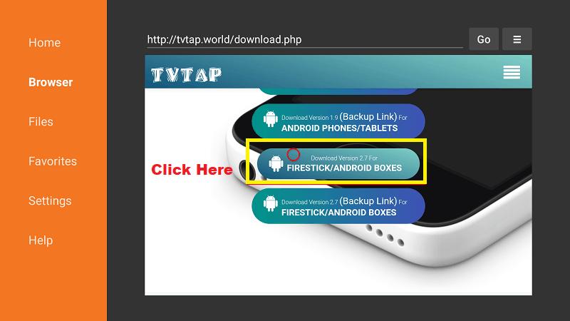 TVTap for Firestick