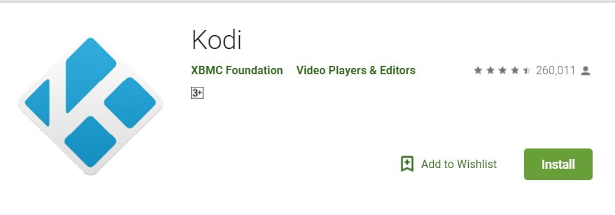 Update Kodi on Android via google play store