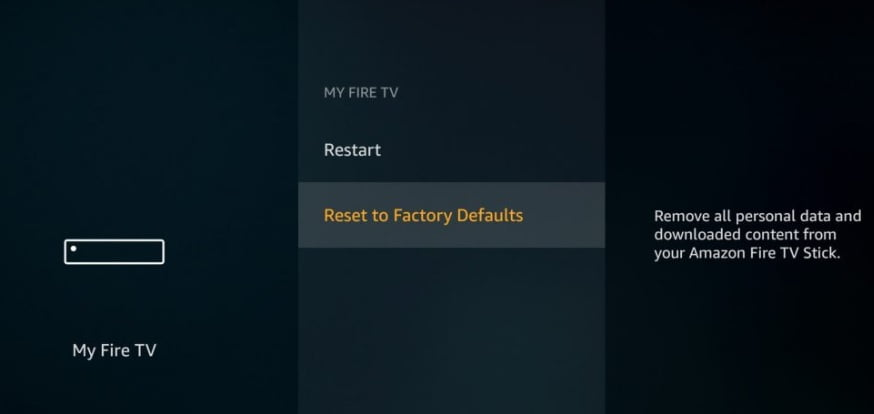 how to reset firestick