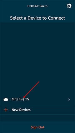 An image featuring how to use the Fire TV App step3