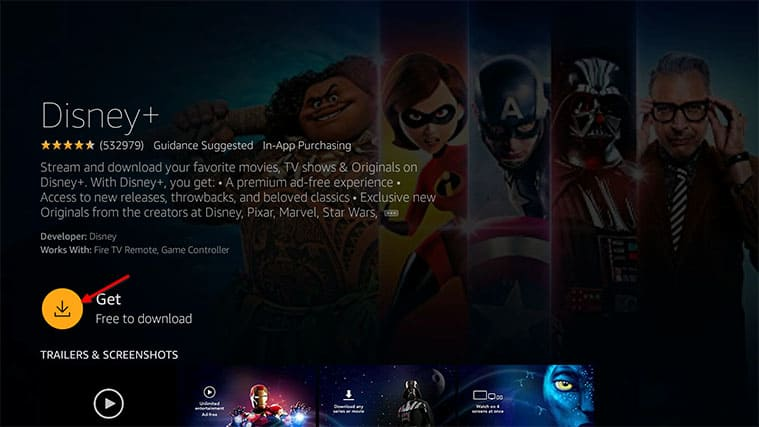 An image featuring how to install Disney+ on FireStick & Fire TV step5