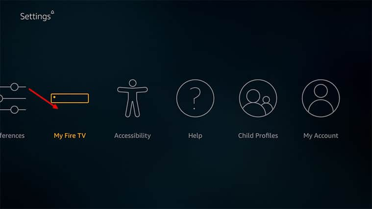 An image featuring how to enable apps from unknown sources on a FireStick device step2