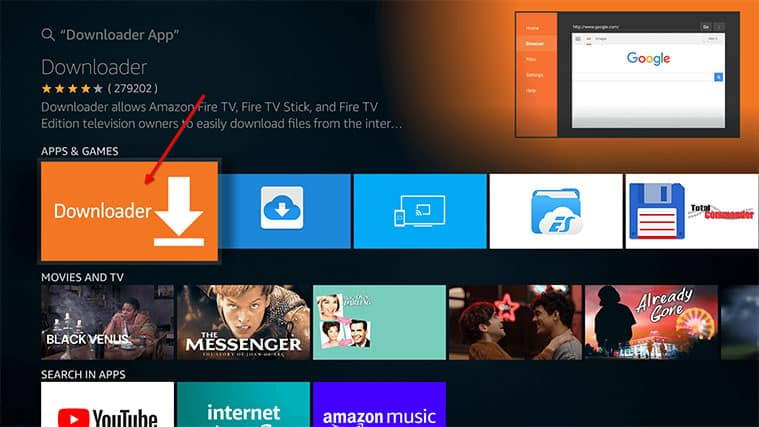 An image featuring how to Install Fire Stick Mobdro APK via Downloader on Your Fire TV Stick step2