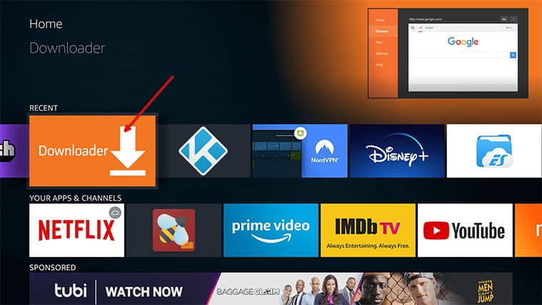 An image featuring how to Install Fire Stick Mobdro APK via Downloader on Your Fire TV Stick step2a