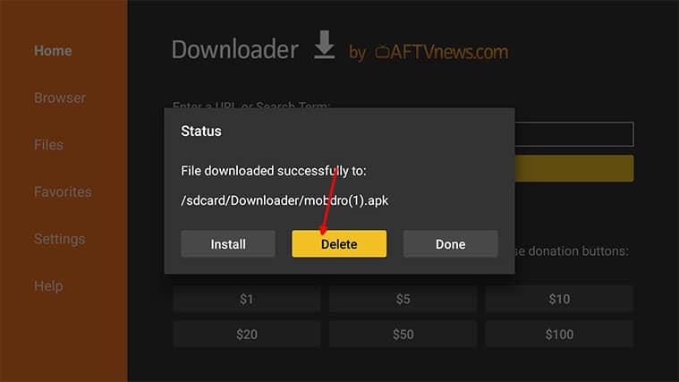 An image featuring how to Install Fire Stick Mobdro APK via Downloader on Your Fire TV Stick step5