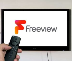 Freeview on a tv