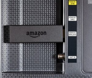 the amazon firestick connected through an hdmi port