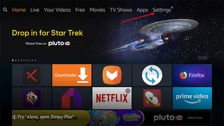 An image featuring how to Enable Third-Party Apps on Your FireStick to Install Freeview on FireStick step1