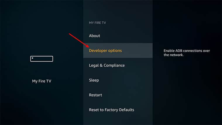 An image featuring how to Enable Third-Party Apps on Your FireStick to Install Freeview on FireStick step1b