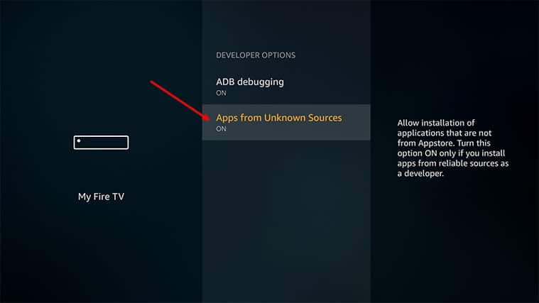 An image featuring how to Enable Third-Party Apps on Your FireStick to Install Freeview on FireStick step1c