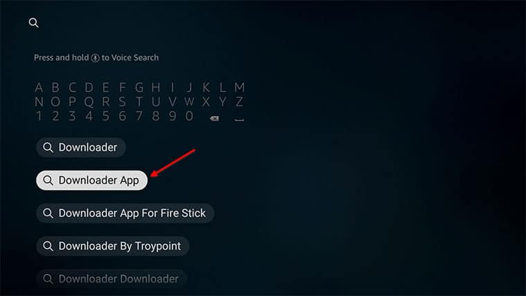 An image featuring how to Get the Downloader App To Install Freeview on FireStick step2a