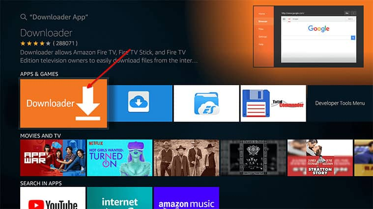 An image featuring how to Get the Downloader App To Install Freeview on FireStick step2b