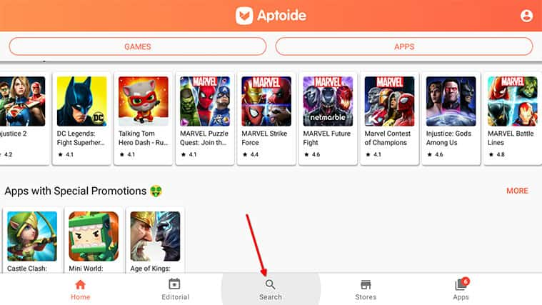 An image featuring how to install Airtel Xstream on your FireStick using Aptoide Store step3