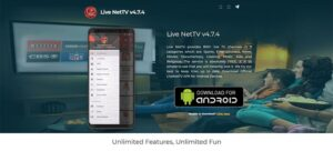 An image featuring the homepage of the LiveNetTV website