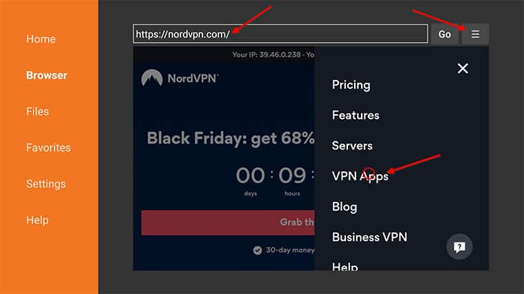 An image featuring how to install NordVPN on FireStick manually step7c