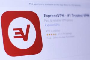 An image featuring the ExpressVPN application on the app store