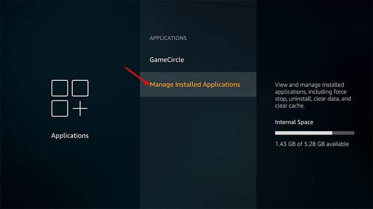 An image featuring how to fix Firestick not playing sound problem by checking apps step4
