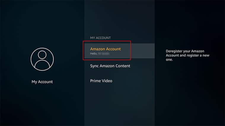 An image featuring how to deregister the FireStick device step three