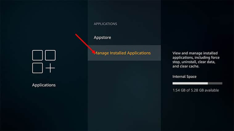An image featuring how to clear the cache and app data on Amazon FireStick step4