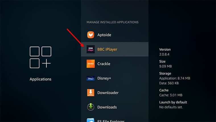 An image featuring how to clear the cache and app data on Amazon FireStick step5
