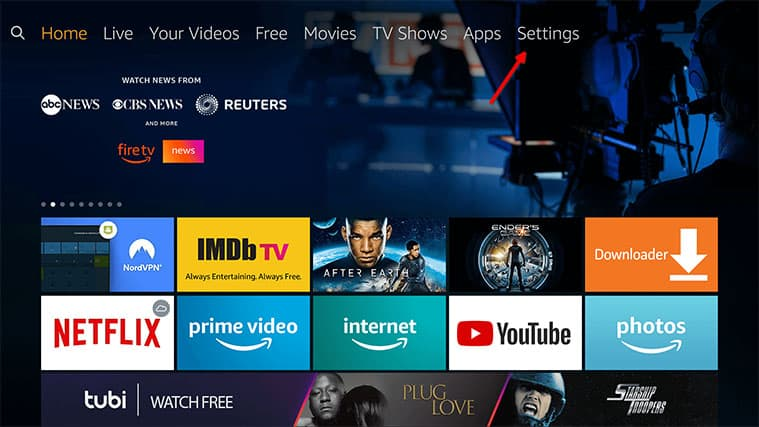 An image featuring how to uninstall some apps on Amazon FireStick step1
