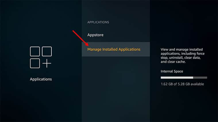 An image featuring how to uninstall some apps on Amazon FireStick step2b