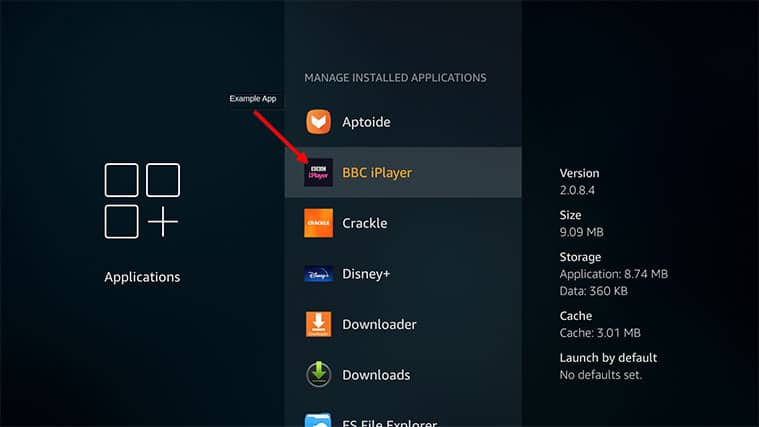 An image featuring how to uninstall some apps on Amazon FireStick step3