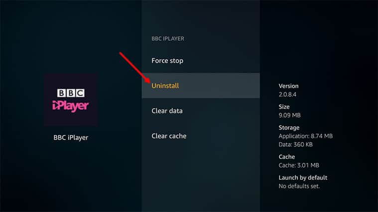 An image featuring how to uninstall some apps on Amazon FireStick step4a
