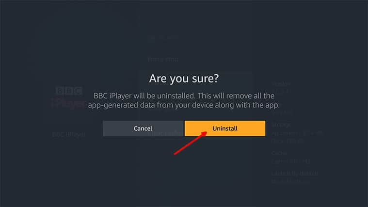 An image featuring how to uninstall some apps on Amazon FireStick step4b