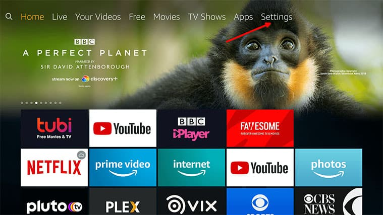 An image featuring how to remove excess apps on your FireStick device step1
