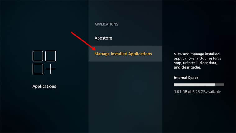 An image featuring how to remove excess apps on your FireStick device step3