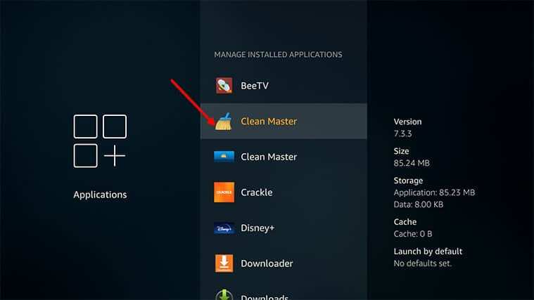 An image featuring how to remove excess apps on your FireStick device step4a
