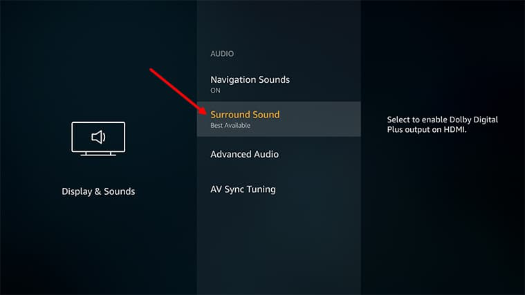 An image featuring how to enable stereo on your FireStick system step4
