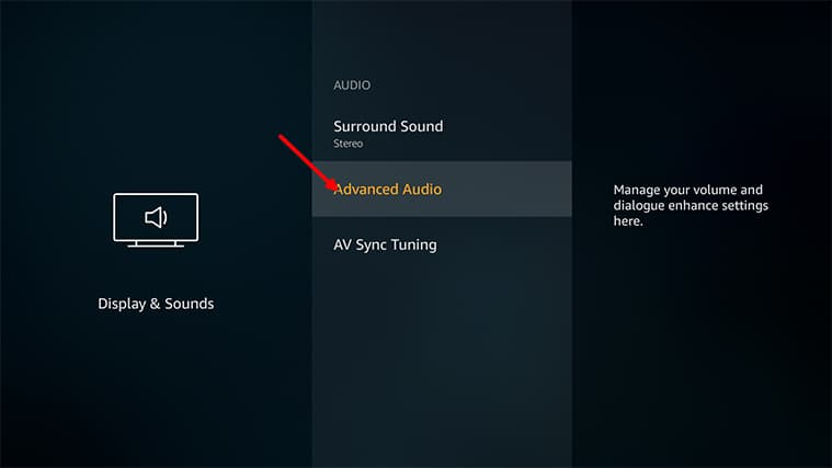 An image featuring how to enable stereo on your FireStick system step6