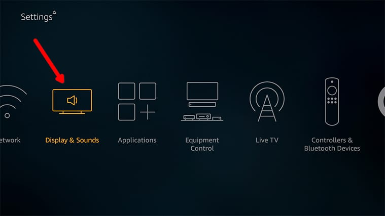 An image featuring how to Access The Display Calibration Feature on FireStick step3