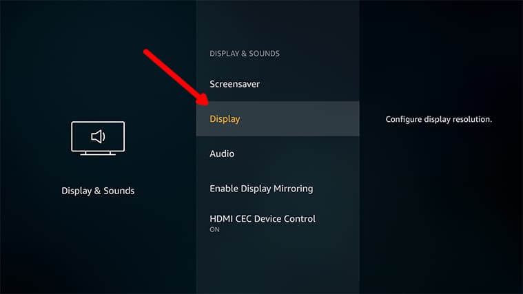An image featuring how to Access The Display Calibration Feature on FireStick step4