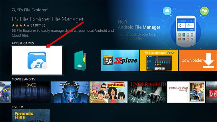 An image featuring how to transfer files to Amazon FireStick step1-4