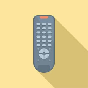 An image featuring a cool drawn TV remote