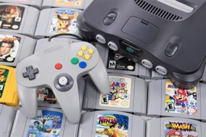 An image featuring the Nintendo 64 video game console