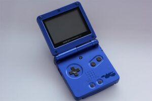 An image featuring the Game Boy Advance 32-bit handheld game console
