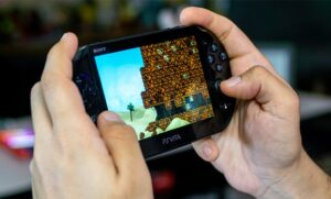 An image featuring the PlayStation Portable handheld game console
