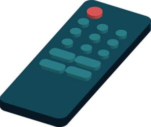An image featuring a cool drawing of a TV remote
