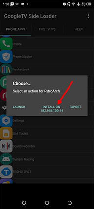 An image featuring how to install RetroArch emulator on an Android phone for Amazon Fire TV Stick step5a