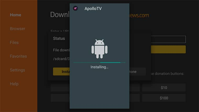 An image featuring how to install Apollo TV on FireStick step14