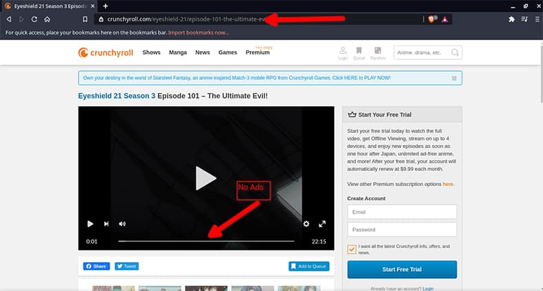 An image featuring the best way to get rid of Ads on Crunchyroll step3