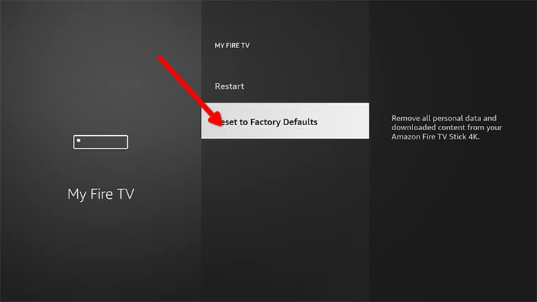 An image featuring how to factory reset your FireStick device step3