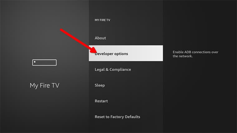 An image featuring how to Enable Unknown Sources on FireStick step3