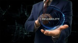 An image featuring network reliability concept