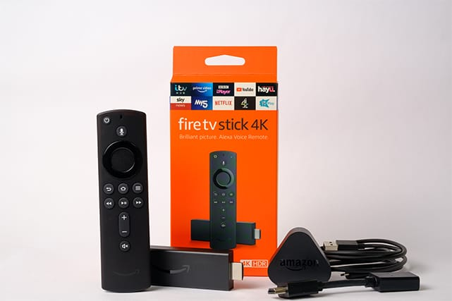 An image featuring the Amazon Fire TV Stick 4K device